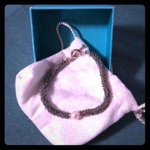 Jewelry - Michael Dawkins silver and pearl bracelet.